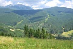 Bukovel ski resort in summer, Ukraine Royalty Free Stock Photos