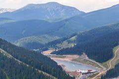 Bukovel ski resort from top Stock Photos