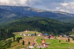 Bukovel ski resort from top Royalty Free Stock Images