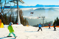 Bukovel ski resort Royalty Free Stock Images