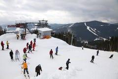 Bukovel ski resort, Ukraine Royalty Free Stock Images
