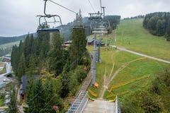 Bukovel, skitoevlucht royalty-vrije stock fotografie