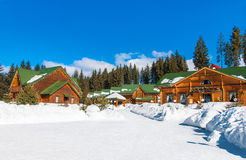 Bukovel winter ski resort in Eastern Europe, Ukraine, Carpathian. Bukovel the largest ski resort in Eastern Europe, Ukraine, Carpathian Mountains, for sports royalty free stock photos