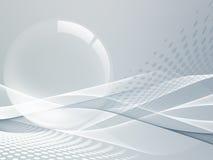 Buktade linjer för teknologi abstrakt begrepp Royaltyfri Foto