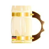 Buktat exponeringsglas av öl Royaltyfri Fotografi