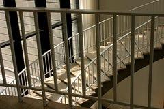 Buktig trappuppgång Arkivfoto