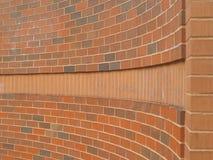 buktig vägg för tegelsten Royaltyfri Bild
