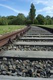 buktigt järnvägspår Royaltyfria Foton