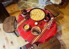 bulagrian обедая таблица традиционная Стоковая Фотография