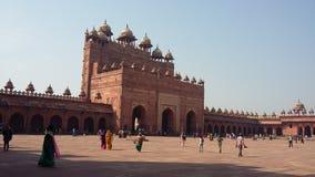Buland darwaja i fatehpurshikri Royaltyfri Bild