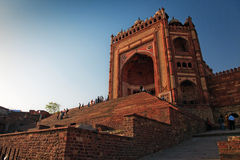 Buland Darwaza, big gates of Jama Masjid Mosque Stock Images