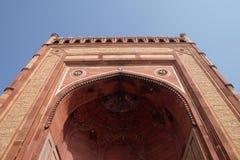 Buland Darwaza, de 54 meterna hög ingång till det Fatehpur Sikri komplexet Arkivbilder