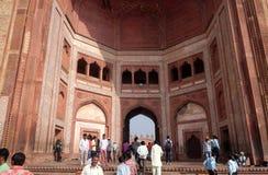 Buland Darwaza, de 54 meterna hög ingång till det Fatehpur Sikri komplexet Royaltyfria Bilder