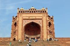 Buland Darwaza en Fatehpur Sikri, la India Foto de archivo