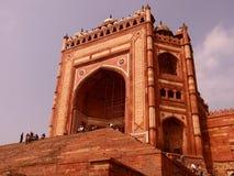 Buland Darwaza, Fatehpur Sikri, Agra. Buland Darwaza, Fatehpur Sikri was built in 1576 A.D. by Akbar to commemorate his victory over Gujarat. Buland Darwaza Stock Image