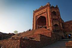 Buland Darwaza, grandi cancelli della moschea di Jama Masjid Immagini Stock