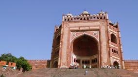 Buland Darwaza på Fatehpur Sikri på Agra lager videofilmer