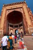 Buland Darwaza (segerbågen) Fatehpur Sikri Uttar Pradesh india Royaltyfri Foto