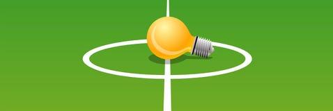 Bulb. A bulb on midfield of a football stadium Stock Photo