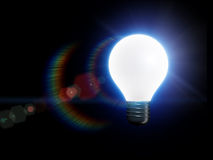 Bulb. 3d light bulb is lighting Royalty Free Stock Photography
