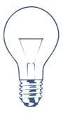 Bulb. Vector light bulb on white background Royalty Free Stock Photo
