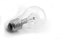 Bulb. Isolated light bulb against white background stock image