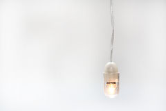 Bulb. An electric bulb and a white background Royalty Free Stock Photography