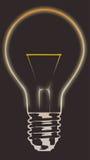 Bulb 3. Light bulb on dark background Royalty Free Stock Photography