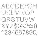 Bulb alphabet. 2d illustration of bulb alphabet Royalty Free Stock Images