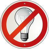 Bulb banned Royalty Free Stock Photography