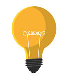 Bulb or big idea isolated flat icon. Stock Photo