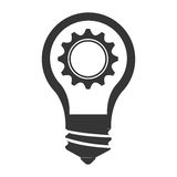 Bulb or big idea isolated icon Stock Photography