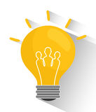 Bulb and big ideas Royalty Free Stock Photos