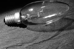 Bulb black and white Royalty Free Stock Photography