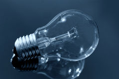 Bulb blue Royalty Free Stock Photography