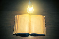 Bulb and Book Royalty Free Stock Photos