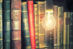 Bulb and Book Royalty Free Stock Photography
