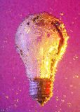Bulb and bubbles Stock Images