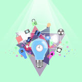 Bulb  business  concept  and icon. Bulb business concept and icon Royalty Free Stock Photos