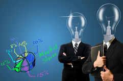 Bulb Businessman team Stock Photography