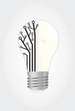 Bulb with chip. Idea concept bulb with chip parts vector stock illustration
