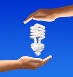 Bulb from clouds Royalty Free Stock Photo