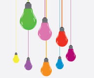 Bulb color Royalty Free Stock Images