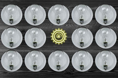 Bulb combination. Light bulb combination element.Bright sun Icon Royalty Free Stock Photos
