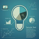 Bulb concept of success an idea Royalty Free Stock Photography