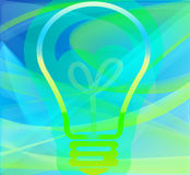 Bulb conceptual image. Ecology background with bulb image Stock Photo