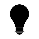 Bulb creative idea school pictogram Royalty Free Stock Photography