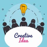 Bulb creative ideas concept. Vector illustration design Royalty Free Stock Images