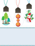 Bulb decor Christmas reused Royalty Free Stock Photos