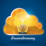 Bulb design. Bulb design over blue background, vector illustration vector illustration